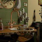 Badrenovierung Badezimmer Kupfer modern