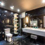 Badrenovierung Badezimmer schwarz